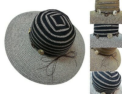 Women Ribbon Wide Brim Floppy Hat Straw Beach Summer Sun Cap Ladies Hot Sell