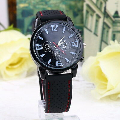 Luxury Military Pilot Army Outdoor Style Silicone Mens Wrist Watch JL