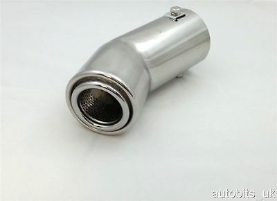 New Universal Sport Chrome Exhaust Tail Trim Tip Pipe Muffler
