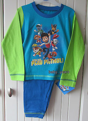 Boys Paw Patrol Pyjamas Chase Marshall Rubble Childrens Character Nightwear Set
