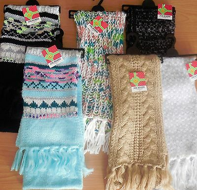 NWT Joe Boxer Cold Weather Winter Fashion Knit Scarfs-Colors/Designs Vary- OSFM