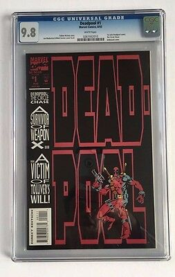 Deadpool The Circle Chase (1993) #1 CGC 9.8 (Cert # 0261932010) Deadpool Movie!