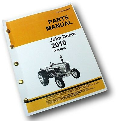 John Deere 2010 Tractor Parts Manual Catalog Exploded Views Assembly