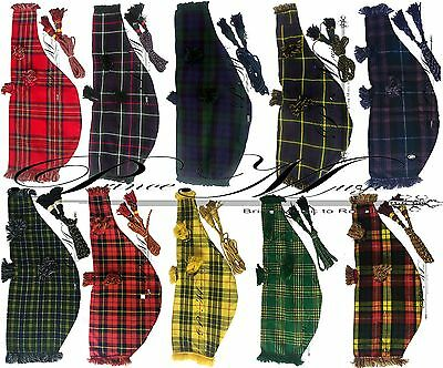 Great Highland Bagpipes Bag Cover Various Tartans/Scottish Bagpipe Bag Cover