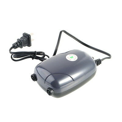Two Outlets  Air Pump 120 Gal Aquarium 48GPH 220V LO