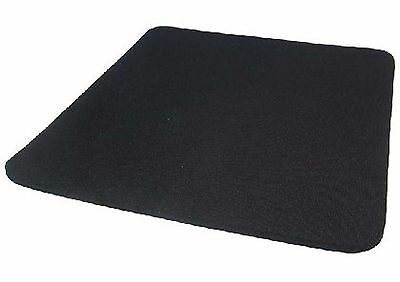 BLACK 6mm Mouse Mat, Material Top-Surface, Size 24.4cm x 22cm, Anti-Slip Base