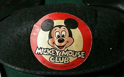 Vintage Disney MICKEY MOUSE CLUB Felt Plastic EARS HAT