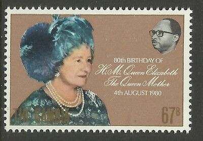 GAMBIA 1980 80th Birthday QUEEN ELIZABETH QUEEN MOTHER 1v MNH