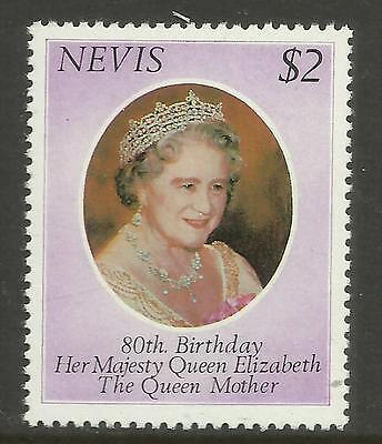 NEVIS 1980 80th Birthday QUEEN ELIZABETH QUEEN MOTHER 1v MNH
