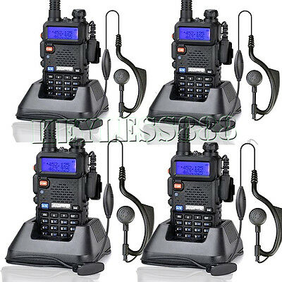 4* Baofeng UV-5R DualDand FM Ham 2 way Radio Long Range Walkie Talkie AU Stock