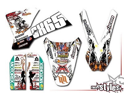 KTM SX 50 65 -2015 | SX 85 -2012 | MX Graffiti DEKOR DECAL KIT Aufkleber Sticker