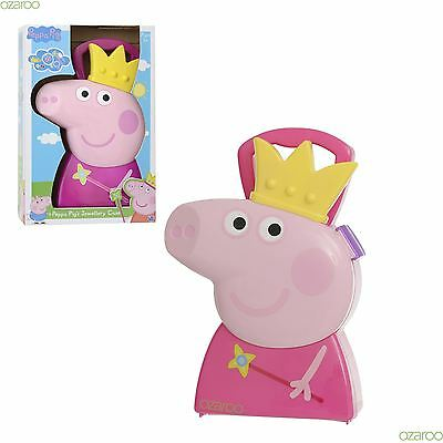 Peppa Pig Childrens Princess Jewellery Case, with Fun Jewellery accessories