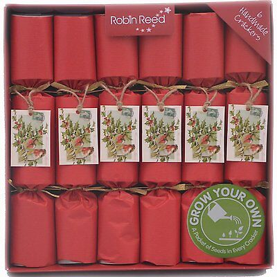 Set Of 6 Robin Reed Grow Your Own Vegetables Christmas Crackers 12""
