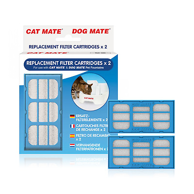 Replacement Filter Cartridge Cat Mate Part 339 Pet Water Fountain Pack Drinking