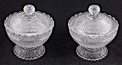 Baccarat Cut Crystal Pair of Bonbonnières / Candy Boxes