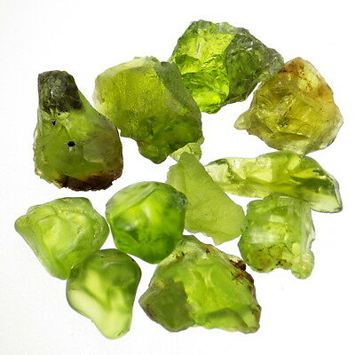 PERIDOT-ARIZONA 53.38Ct TW LOT 11 PCS-MOSTLY CLEAN to FLAWLESS-FACET GRADE!!