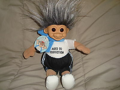 "Russ Troll Doll Aged To Perfection 10"" Plush W/PVc Head W/ Tags"