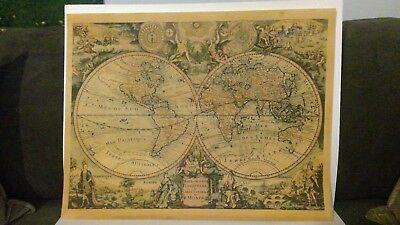 MC750  World Map 1735 -    SPECIAL PRICING    -  Authentic Models