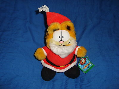 "Mcdonalds Plush Christmas Garfield 7"" W/Tags"