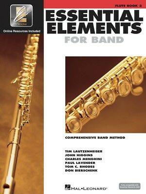 New Essential Elements for Band Flute Book 2 with EEi  Online Audio