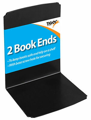 2 Bookends 128 x 158mm Black Book Ends 302007