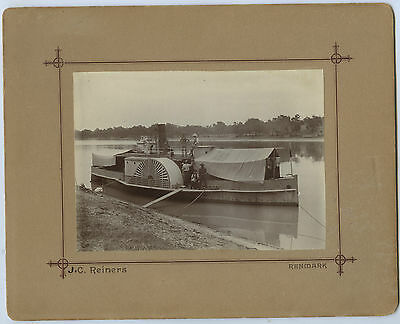 1910 Photo Sidewheel Paddlesteamer 'dispatch' R Murray Sa Reiners Photo C68