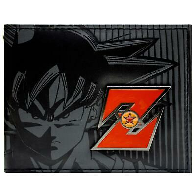 New Official Dragonball Z Goku Red Metal Badge Bi-Fold Wallet