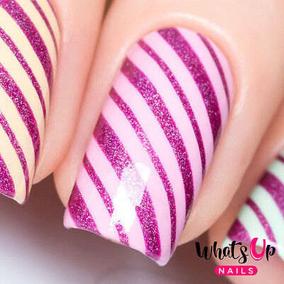 Wrapping Paper Stencils for Nails, Candy Cane, Christmas Nail Stickers, Nail Art