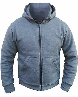Motorcycle Hoodie Fully Reinforced  DuPont™ KEVLAR® Armid Fibre CE Armoure GREY