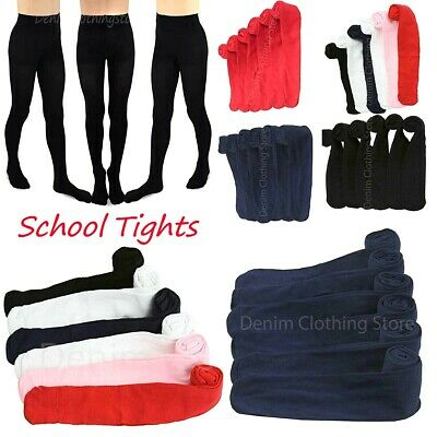 6pcs Kids Toddlers Girls Tights Solid Stretch Pantyhose Stockings Wholesale Lot