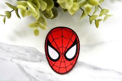 SPIDERMAN Badge Iron on Patch Patches Pin Sew On Embroidered Stitched Mask Movie