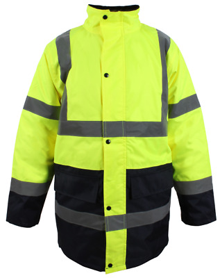 Blackrock Yellow / Navy Hi Vis Two Tone Coat  High Viz Parka Jacket (80012)