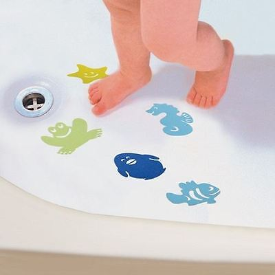 Dreambaby Anti-Slip Bath Mats for Baby Bathing - Pack of 10 Coloured Sea Animals