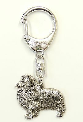 Rough Collie Silver Keyring