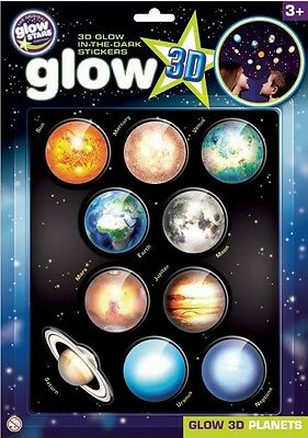 Brainstorm Glow 3D Planets Stickers Science And Nature