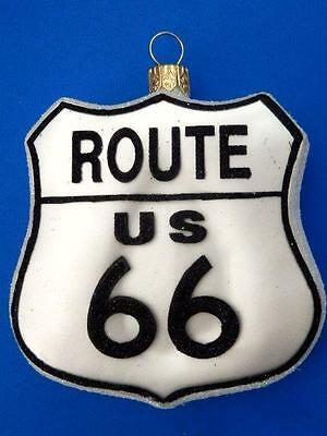 Us Route 66 European Blown Glass Christmas Tree Ornament