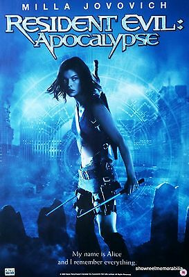 Milla Jovovich RESIDENT EVIL APOC original 2004 promotional horror movie poster