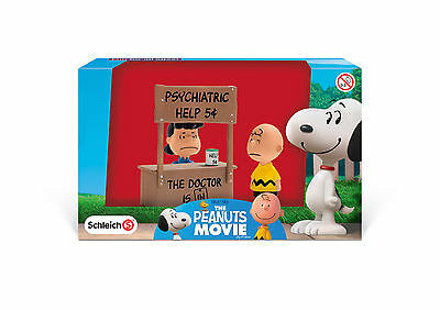 Charlie Brown Peanuts Movie Lucy & Charlie Brown Action Figures & Psych. Booth