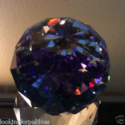 "Swarovski Crystal ""HELIO"" 60mm Round Ball Paperweight MIB!! #9404 NR 60"