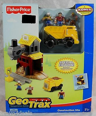 New GeoTrax Construction Site Special Edition Fisher-Price