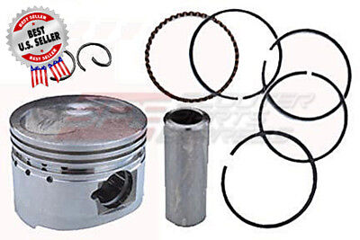 GY6 50 139QMB 110cc Big Bore Piston& Ring Set Performance 51mm 13mm wrist pin .