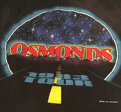 Vintage Rare The Osmonds Live in Concert 1983 Tour T-shirt Large Donny Marie
