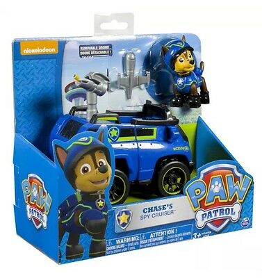 Paw Patrol Chase Spy Drone Cruiser Pup Vehicle GENUINE Skye Everest Tracker NEW!