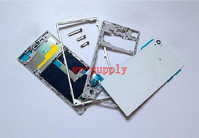 Housing Front +Middle Frame+ Back Cover Case for Sony Xperia Z1 L39H C6902 C6903