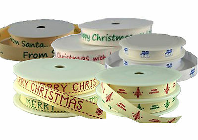 Christmas Ribbon-Various designs.Perfect for gift wrapping/craft/cake decorating