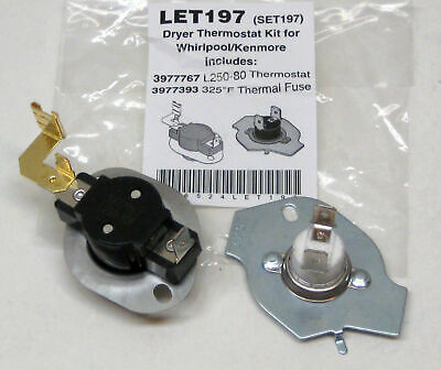 N197 Dryer Limit & Thermal Thermostat Kit for Whirlpool Kenmore 279816 BETTER