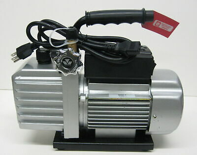 90066-2V-110 6 CFM Vacuum Pump Two Stage 1/3 HP 15 Microns 3440 RPM Mastercool