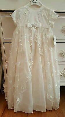 New Sarah Louise Christening Gown style 133SN, size 6 months, MSRP $350