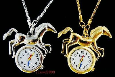 Bulk lots 10 pcs Horse style Necklace pendant Watches Xmas gifts USF27