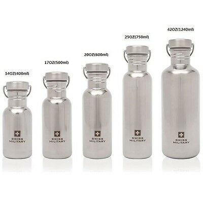 SWISS MILITARY Sports Water Bottle Cycling Bicycle Portable Drink Camping Hiking